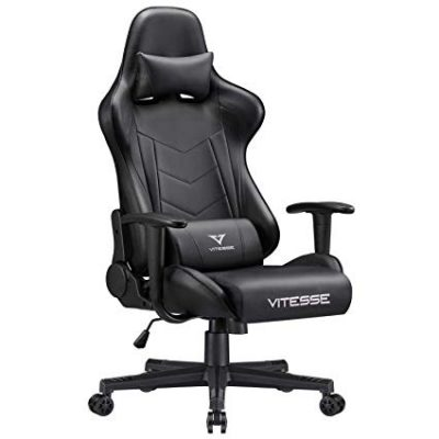 Gaming Chair Carbon Fiber Leather High Back Racing Style Computer Office Chair by Waleaf: