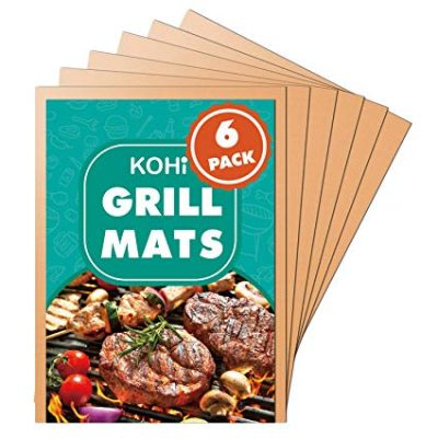 Kohi Copper Grill Mats Non Stick for Gas Grill Charcoal Grill: