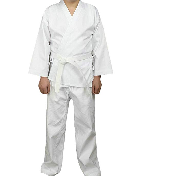 ZooBoo Martial Arts Aikido Judo Student Karate Gi Suit Uniform Costume with Belt: