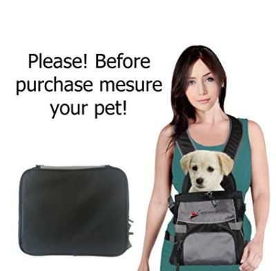 Front Dog Cat Pet Carrier, Dog Backpack Bag by Eugene's: