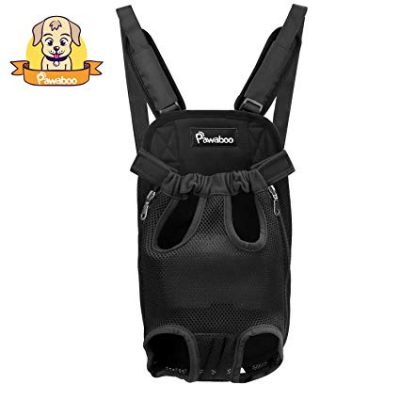 PAWABOO Pet Carrier Backpack, Adjustable Pet Front Cat Dog Carrier: