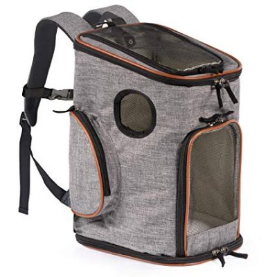 Pawfect Pets Soft-Sided Pet Carrier Backpack for Small Dogs and Cats: