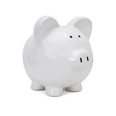Child to Cherish Ceramic Piggy Bank, White: