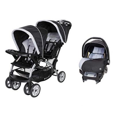 Baby Trend Sit N Stand Tandem Stroller + Infant Car Seat Travel System, Stormy: