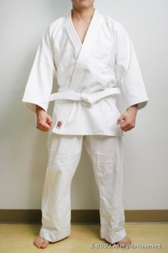 BUTOKU Top Quality SEIKA Bleached Aikido Uniform Set: