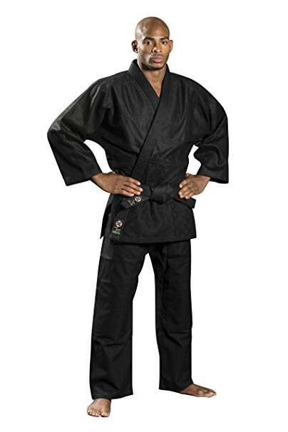 Ronin Brand Black Judo/Ju-Jitsu Uniform - Martial Arts Gi for Kempo, Kendo, BJJ, Karate, Grappling, Aikido, Aiki-Jujitsu: