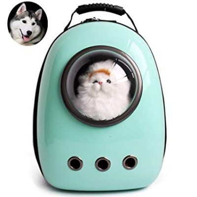 14. Lemonda Portable Travel Pet Carrier Backpack,Space Capsule Bubble Design: