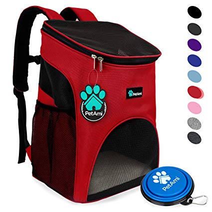 PetAmi Premium Pet Carrier Backpack for Small Cats and Dogs: