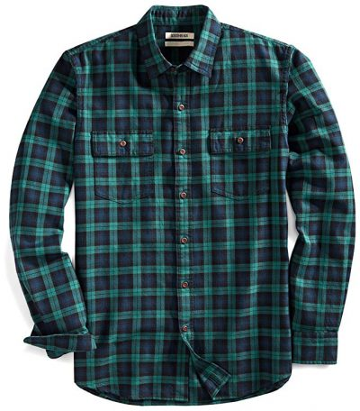 13. Goodthreads Men's Slim-Fit Long-Sleeve Plaid Twill Shirt: