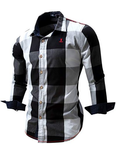 Neleus Men's Long Sleeve Button Down Shirts: