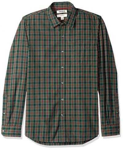 Goodthreads Men's Slim-fit Long-Sleeve Plaid Poplin Shirt: