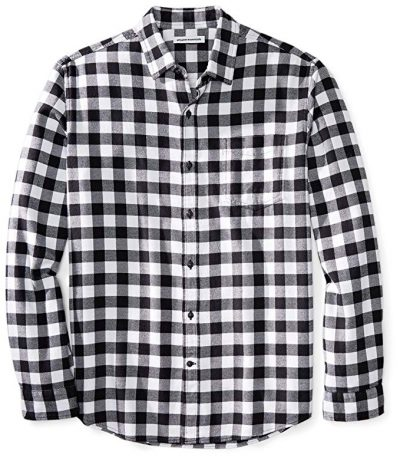 Amazon Essentials Men's Regular-Fit Long-Sleeve Plaid Flannel Shirt: