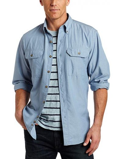14. Carhartt Men's Fort Lightweight Chambray Button Front Relaxed Fit LS Shirt S202:
