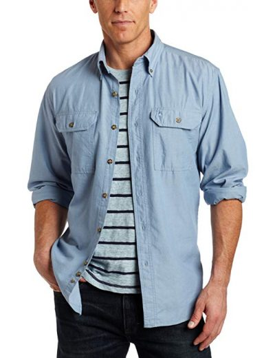 Carhartt Men's Big & Tall Fort Long Sleeve Shirt Lightweight Chambray Button Front Relaxed Fit S202: