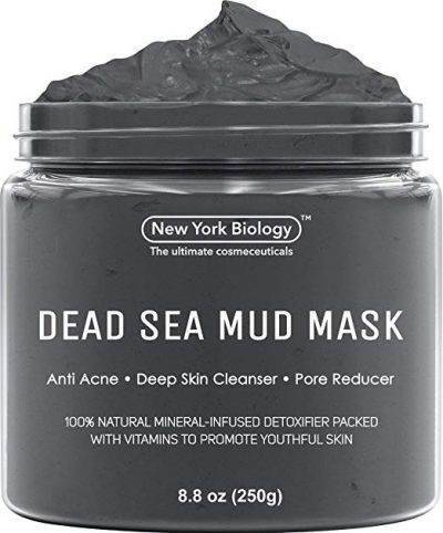 Dead Sea Mud Mask for Face & Body - 100% Natural Spa Quality by New York Biology: