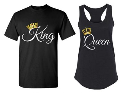 14. Cute Matching Couple T Shirts - His and Hers Racerback Tank Tops: