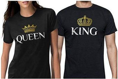 11. King & Queen Matching Couple Set His & Hers T-Shirts: