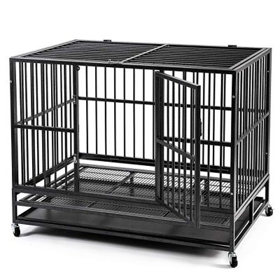 "HYD-PARTS 48"" Large Pet Dog Crate:"
