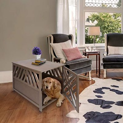 3. Casual Home Wooden Pet Crate: