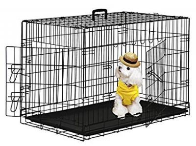 BestPet Pet Wire Cage with Metal Pan: