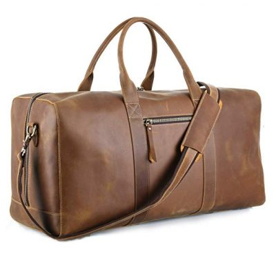 "16. MERKIT 23"" Cowhide Leather Travel Sports Overnight Duffle holdall Bag:"