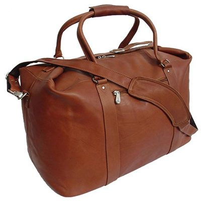 Piel Leather European Carry-On, Saddle, One Size: