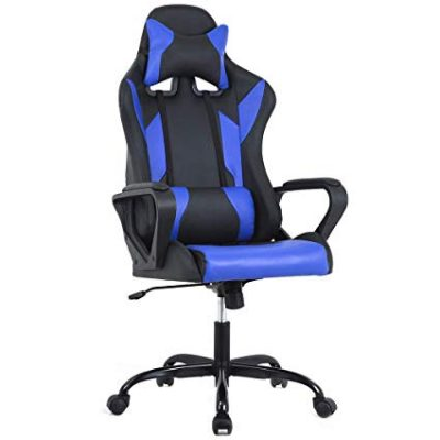 BestMassage Gaming Office Chair, High-Back Racing Chair PU Leather Chair: