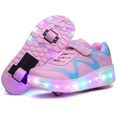 Nsasy Roller Skates Shoes Girls Boys Roller Shoes Kids Wheel Shoes: