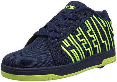 3. Heelys Boys' Split Sneaker, Black/White, 4 Medium US Big Kid: