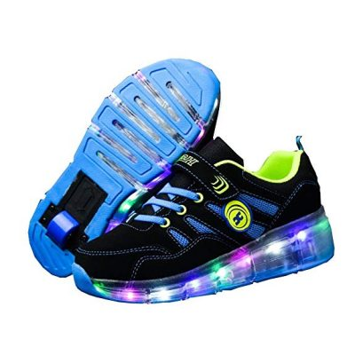 Ufatansy CPS LED Fashion Sneakers Kids Girls Boys Light Up Wheels Skate Shoes: