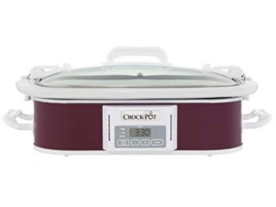 Crock-Pot 3.5-Quart Programmable Digital Casserole Crock Slow Cooker, Plum: