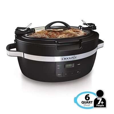 Crockpot SCCPCT600-B Thermoshield Slow Cooker, 6 Quart, Black: