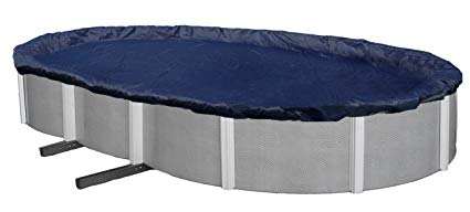 Blue Wave Bronze 8-Year 18-ft x 34-ft Oval Above Ground Pool Winter Cover: