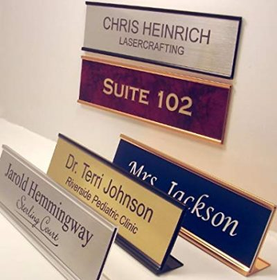 Personalized Office Name Plate With Wall or Desk Holder - 2x8 – CUSTOMIZE: