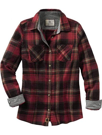 Legendary Whitetails Women's Cottage Escape Long Sleeve Button Up Flannel Shirt:
