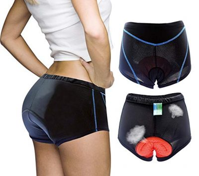 Twotwowin Women's 3D Padded Cycling Underwear Shorts Breathable Lightweight Bike Shorts:
