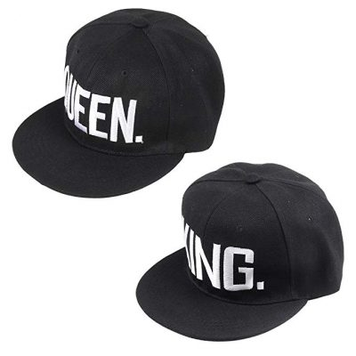 Matching King and Queen Snap Back Hats for Couples by Qiaonai:
