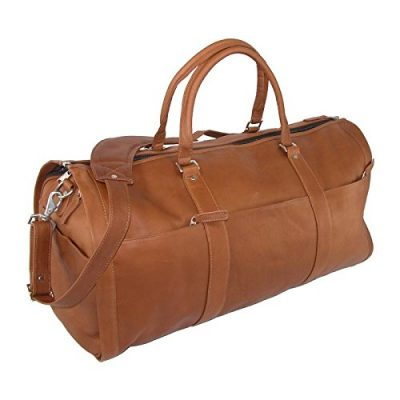 13. Leather Impressions Leather Convertible Duffle Bag to Garment Bag: