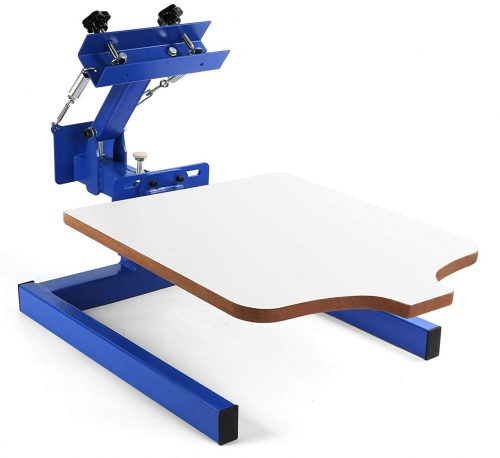 Mophorn Screen Printing Machine 1 Station 1 Color Screen Printing for T-shirt DIY Screen Printing Press Silk Screen Removable Pallet