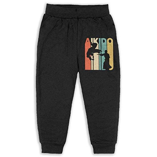 Vintage Style Aikido Silhouette Baby Boys Girls Pants Jogger Sweatpants 2-6 Children-Aikido Pants And Uniforms