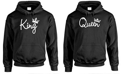 King Queen - Couples Two Hoodie Combo Pack: