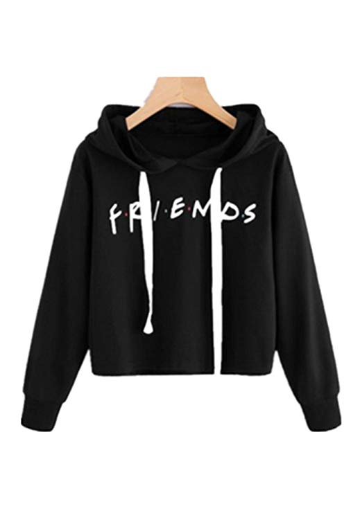 16. LHAYY Friends Women's Girl Casual Loose Crop Top:
