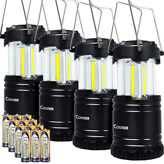 15. LED Camping Lantern, Costech Cob Light Ultra Bright Collapsible Lamp:
