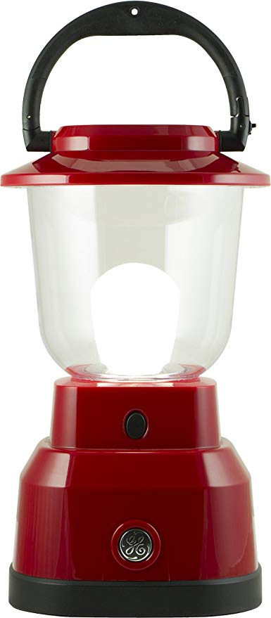 10. Enbrighten LED Lantern, Battery Operated, USB Charging, Red Finish: