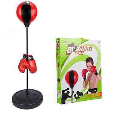 1. ToyVelt Boxing Set With Punching Ball + Hand Pump + Boxing Gloves: