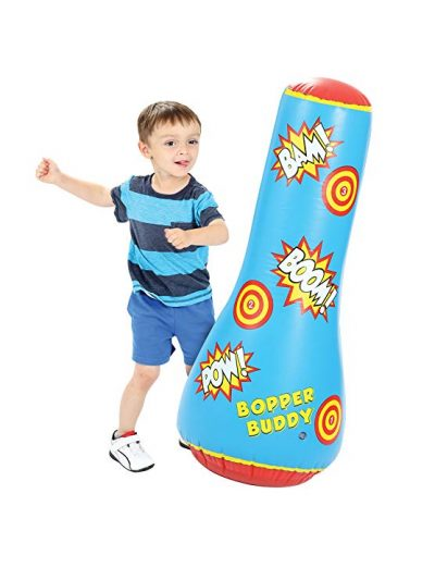 10. Bopper Buddy Inflatable Punching Bag by Orange Onions:
