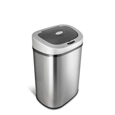 13 gallon touch free sensor automatic stainless steel trash can, 50 liter stainless steel trash can
