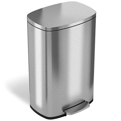 1. iTouchless SoftStep 13.2 Gallon Step Trash Can: