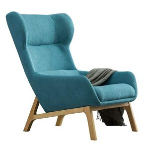 19. Irene House Contemporary Soft Fabric Height Back Accent Chair: