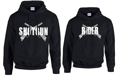 His and Hers Couples Hoodie Shot Gun Rider by Southern Designs: